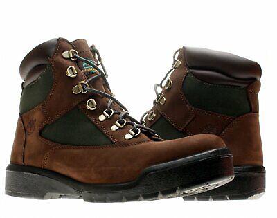 BRAND NEW TIMBERLAND MENS 6IN WATERPROOF FIELD BOOT BROWN/GREEN 72510 Timberland Mens Field Boot