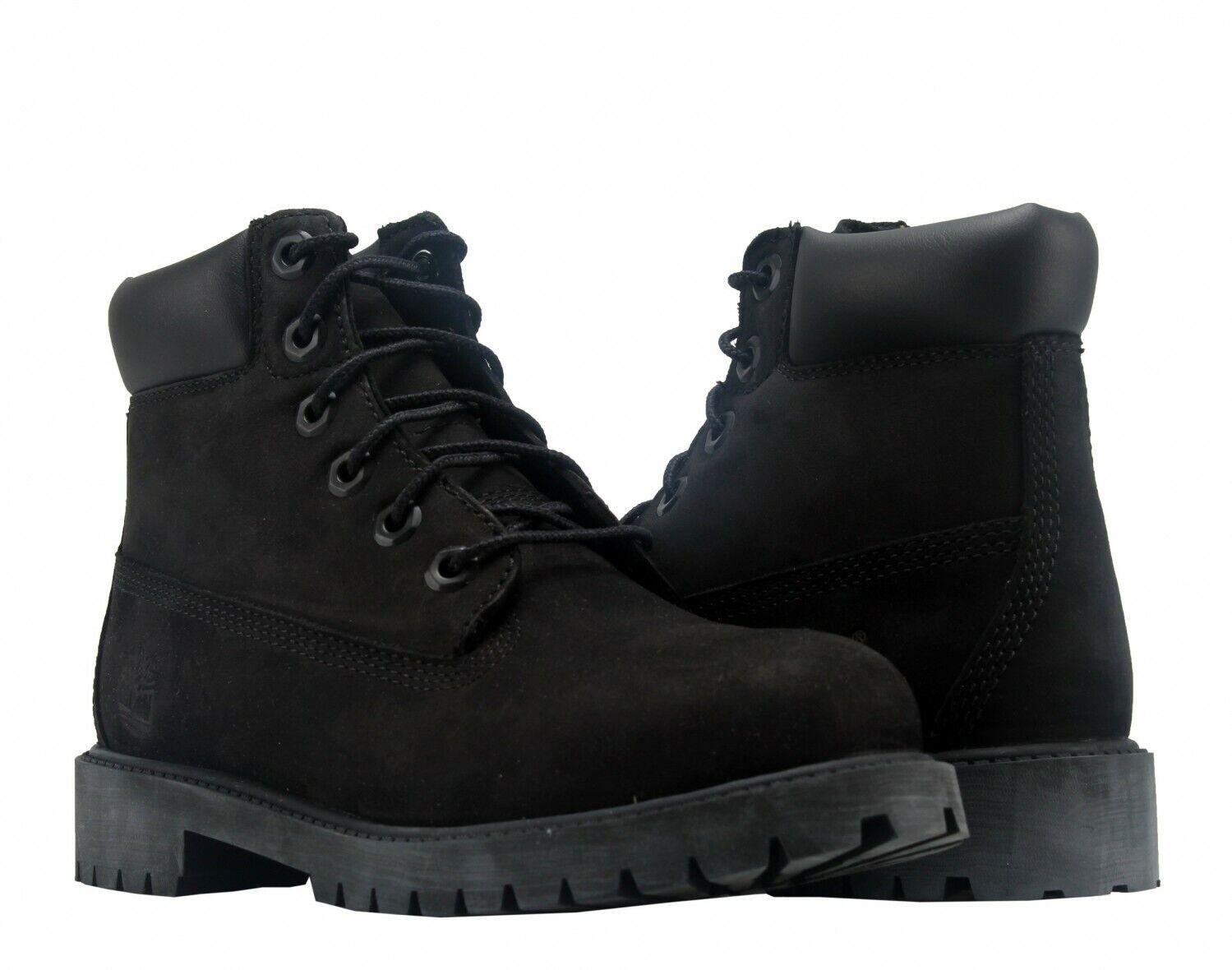 6 premium waterproof leather black boots 12907