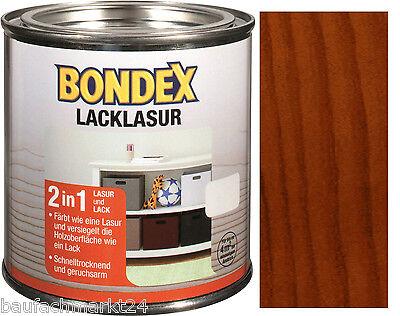 Mahagoni Lack (Bondex Lacklasur Mahagoni Braun 375 ml Lack-Lasur Holzveredelung )