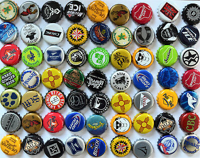 100 MIXED BEER BOTTLE CAPS GREAT COLORS NO DENTS FANTASTIC MIX ASSORTMENT