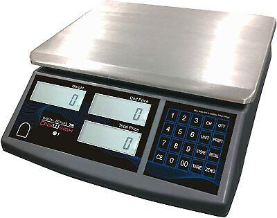 Price Computing Digital Retail Scale 60 Lb X .02 Lb Ntep Legal For Trade