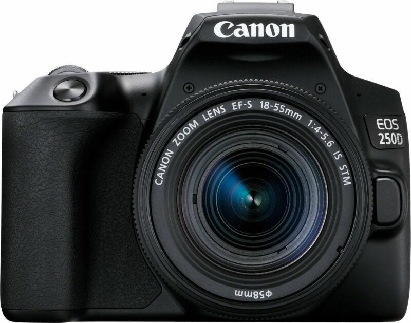 Canon EOS 250D (Rebel SL3) DSLR Camera w/ 18-55mm IS STM Lens