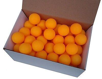 75 TT-Bälle Tischtennisbälle orange o Aufdruck stabile Qual. (mit Rg aus D)