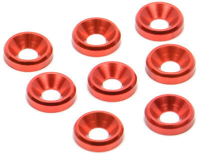 Apex Rc Products Red 3Mm Aluminum Counter Sunk Screw Washers  6556