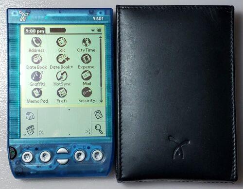 Handspring Visor Deluxe Translucent Blue Portable PDA Organizer Palm Pilot