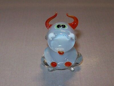 Used, Vintage USSR 1980s Glass figurine Handmade BUFFALO Original for sale  Shipping to Canada