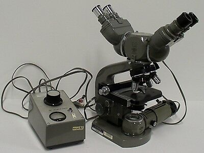 Olympus Compound Biological Microscope With Teaching Head Used