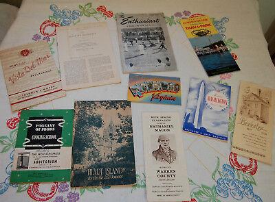 10 VTG Paper Ephemera Travel Restaurants Postcard Motorcycle Tourist '40 '50 '59
