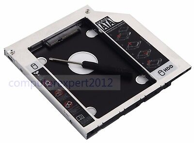 2nd Hard Drive HDD SSD Enclosure Tray Caddy for HP ProBook 655 650 645 640 G1 (Drive Tray Enclosure)