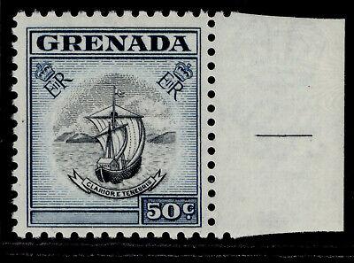 GRENADA QEII SG202, 50c black & deep blue, NH MINT.
