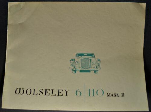1965-1966 Wolseley 6/110 Mark II 16 page Catalog Sales Brochure Nice Original