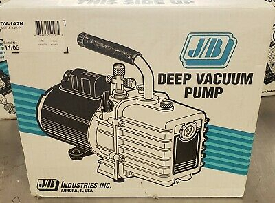 New Jb Vacuum Pump 5 Cfm 2 Stage 120v Pn Dv-142n Made In The Usa.