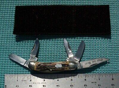 1984 S & D Cut. Co. (Bulldog Brand) STAG 5 Blade Sowbelly pocket knife