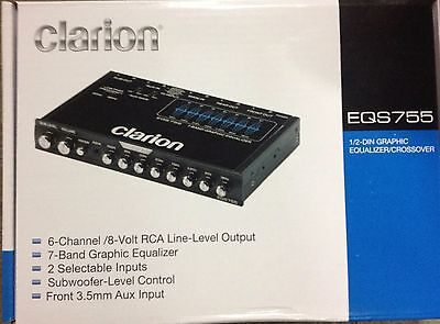 Clarion EQS755 7-Band Graphic Equalizer 1/2-DIN Chassis 1