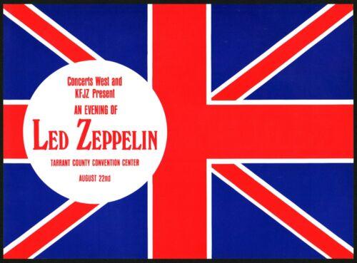 Led Zeppelin-1970 RARE Concert (Flyer) Handbill (Ft. Worth-Tarrant County)