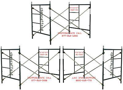 3 Scaffolding Masonry Frame Sets 5 X 5x 7 Snap On Cross Braces Coupling Pin