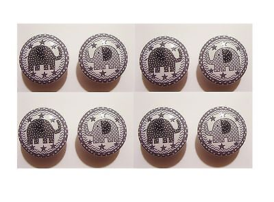 8 GRAY TAYLOR ELEPHANT KIDS M/ BEDDING DRESSER DRAWER KNOBS  MADE AS (Taylor Knobs)