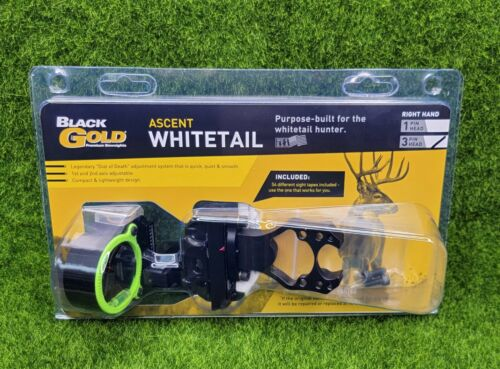 Black Gold Ascent Verdict Whitetail 3-Pin (.019) Right Hand Bow Sight - AVW3