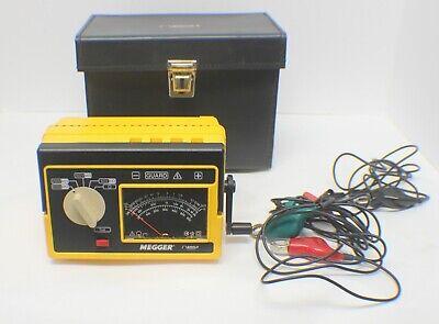 Biddle Megger Hand Crank Insulation Tester Model 212160 In Case
