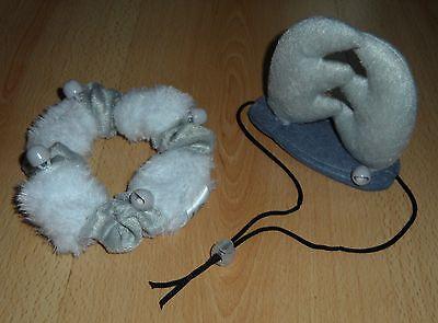 Weihnachts Hundekostüm Rentier Geweih Halsband mit Gummizug Glöckchen Grau - Weißes Geweih Kostüm