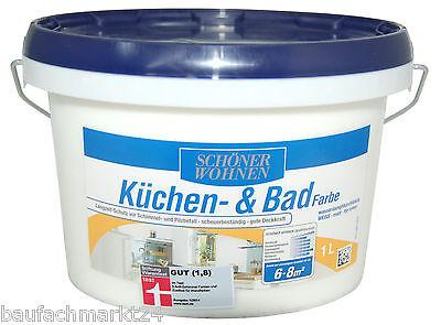 Schöner Wohnen Küchenfarbe Badfarbe Weiß 1 Liter Feuchtraumfarbe