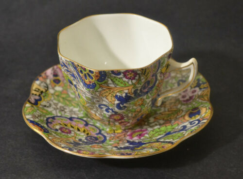 ROSINA PAISLEY CHINTZ CUP WITH SAUCER