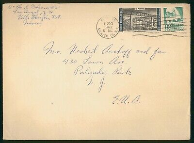 Mayfairstamps Mexico 1962 to Palisades Park NJ Bridge Arches in Building Cover w