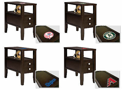 mlb end table or nightstand with drawer