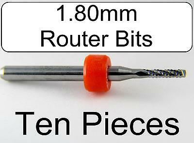 1.80mm .071 Chip Breaker - Carbide Router Bits Ten Pieces Cnc Wood Urc170
