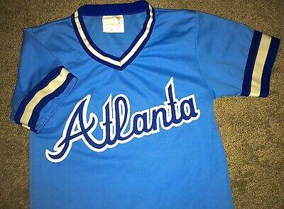 VINTAGE 80's ATLANTA BRAVES 1980-1983 MLB OG TODDLER BLUE JERSEY (S) BOYS RARE! Blues 1980 Vintage Jersey
