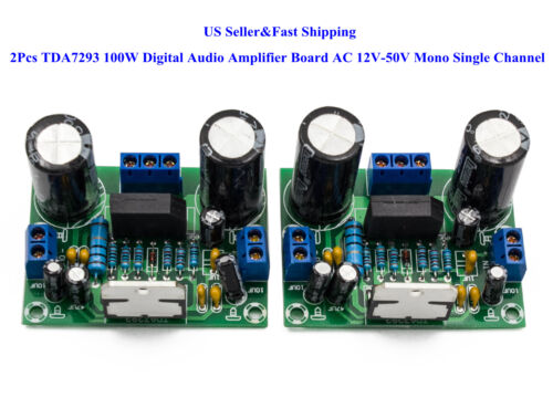 2Pcs TDA7293 100W Digital Audio Amplifier Board AC 12V-50V Mono Single Channel