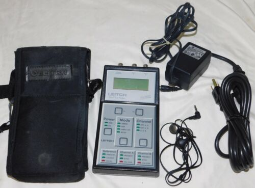 Leitch STA-7000H Serial Timing Analyzer with Case, Power Adapter, Ear Buds