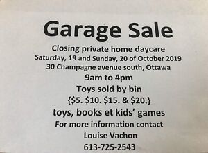 Garage sale!!!! October Saturday 19 Sunday 20
