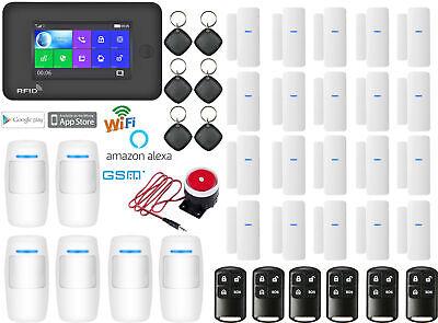 K06 WiFi IP APP GSM RFID Wireless Home Security Alarm Burglar System Auto Dialer