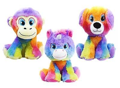 Regenbogen Affe Plüsch (3er Set weich Plüsch Spielzeug Einhorn Affe Hund Plüschtier Teddybär Regenbogen)