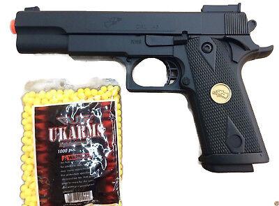 Heavy Duty Full Plastic Spring Airsoft Gun Pistol Hand Gun Plus BONUS 1000 BBS  1000 Airsoft Plastic Bbs