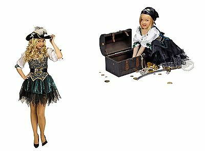 Seeräuberin Piratin Freibeuterin Damen Mädchen Kostüm Karneval Fasching NEU