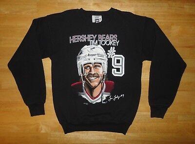 Vintage 1993 HERSHEY BEARS - TIM TOOKEY Black Sweatshirt - Adult Size Medium M