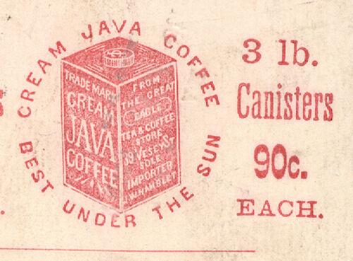 1880s NYC TRADE CARD, HAMBLET