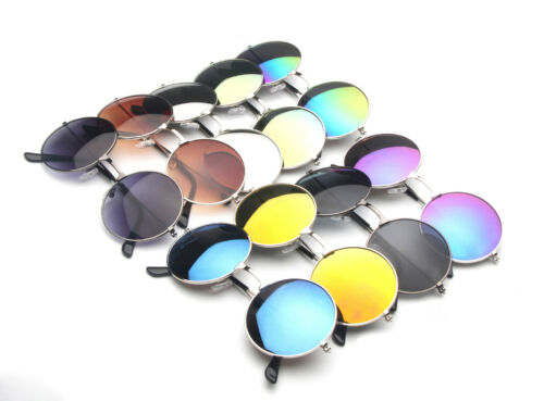 reflective circle sunglasses  circle lens