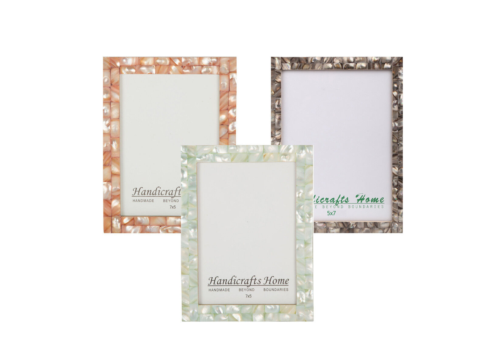5x7 Picture Frames Chic Photo Frame Mother of Pearl Handmade