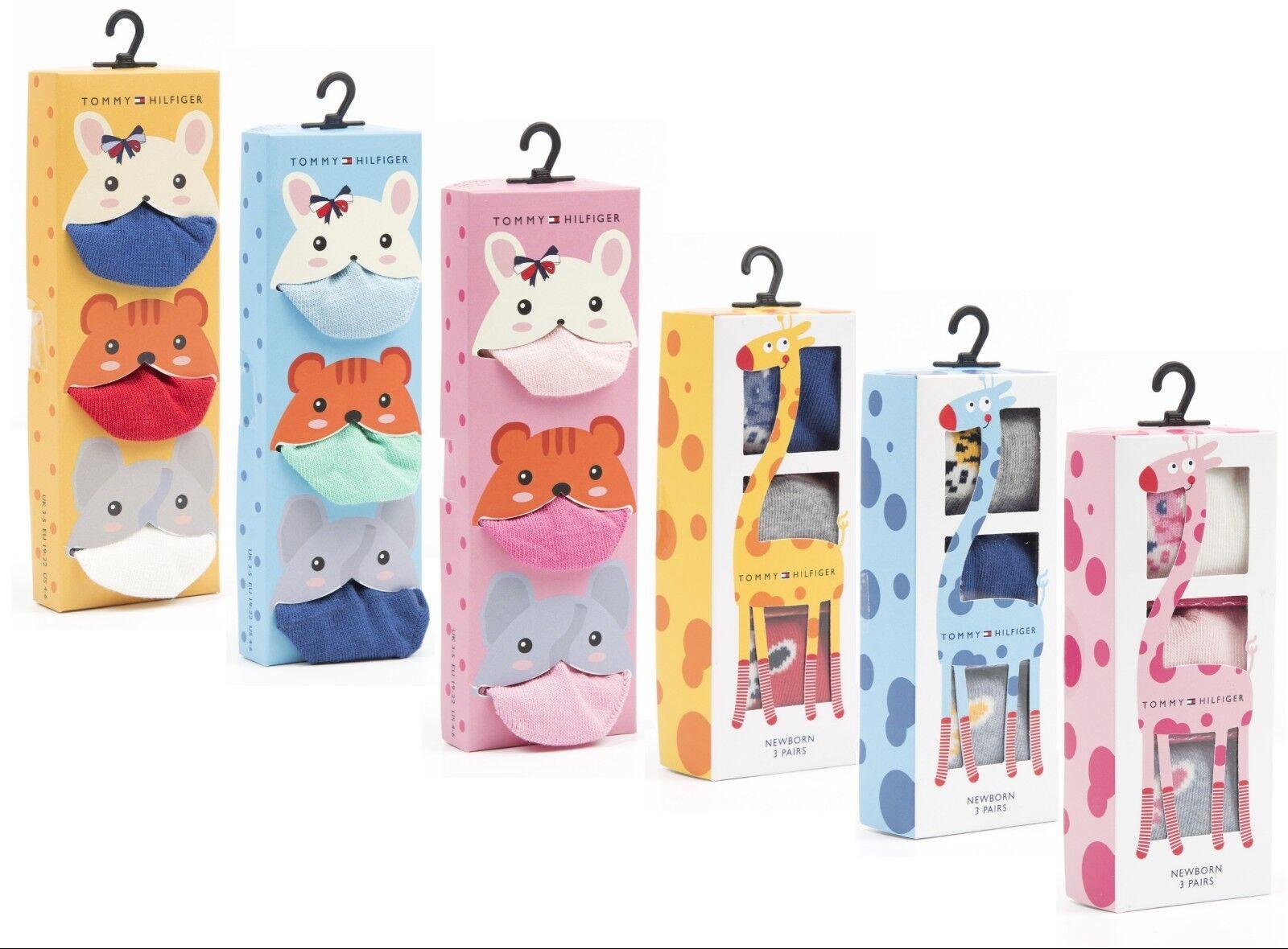 Tommy Hilfiger Baby Socken Sock 3 Paar Pack Giftbox Newborn Jungen Mädchen NEU