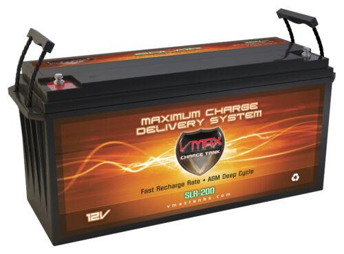 QTY 12 VMAX SLR200 AGM 12V 200Ah Battery PV Solarpanel Solar Storage Wind Power