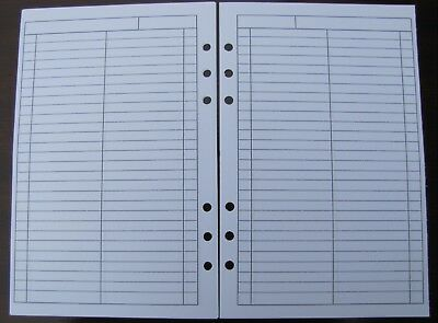TO DO / DONE Refill for A5 6-Ring Planner Organizer Insert (fits Filofax) 6-ring-planner Refill