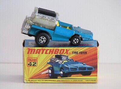 Tyre Fryer Vintage diecast Matchbox Superfast 42 made in England w/original box
