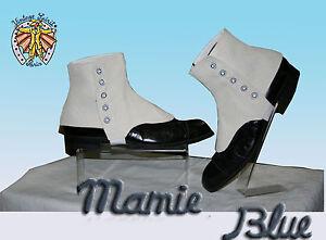 Guetres-courtes-RETRO-Retro-DANDY-GAITERS-shoes-WHITE-Cream-Vintage-Taille-3XL