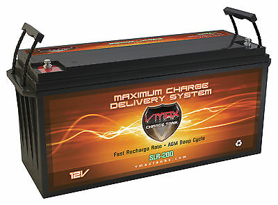 Vmax Slr200 Agm 12v 200ah Battery For Pv Solarpanel Solar Power Generator Backup