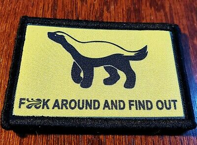 F$%K Around And Find Out Honey Badger Morale Patch Tactical Military Army USA
