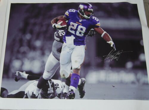 ADRIAN PETERSON signed (MINNESOTA VIKINGS) autographed 30X40 Canvas photo W/COA