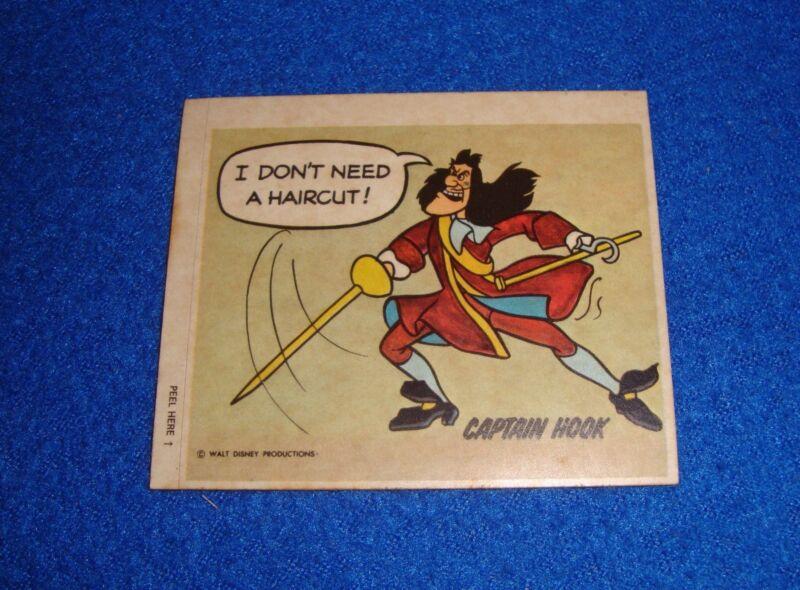 Vintage Disney Captain Hook Sticker Unused